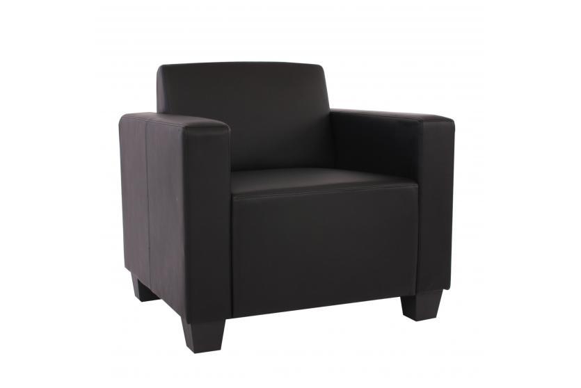 modular sofa couch system lyon kunstleder schwarz ebay. Black Bedroom Furniture Sets. Home Design Ideas