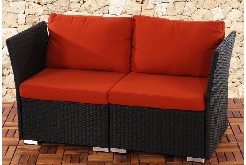 2er sofa 2 sitzer siena poly rattan naturgrau grau anthrazit braun. Black Bedroom Furniture Sets. Home Design Ideas