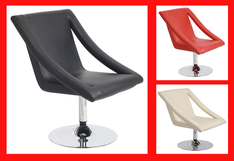 relaxsessel sessel loungesessel schwarz rot wei creme ebay. Black Bedroom Furniture Sets. Home Design Ideas