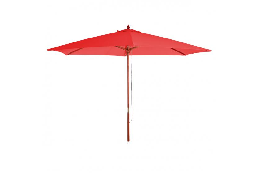 parasol en bois florida jardin parapluie parasol de march. Black Bedroom Furniture Sets. Home Design Ideas