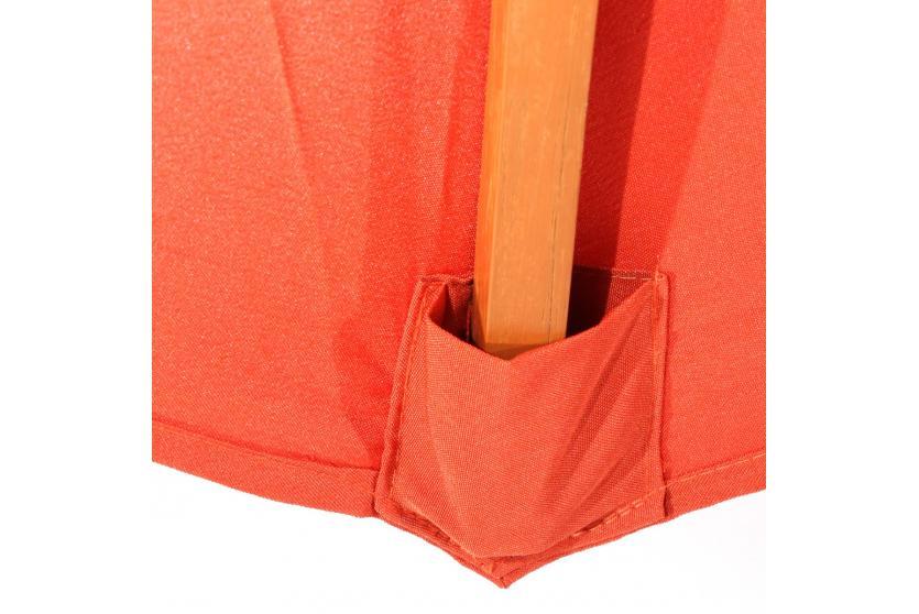 parasol en bois florida jardin parapluie parasol de march 3 m terre cuite ebay. Black Bedroom Furniture Sets. Home Design Ideas