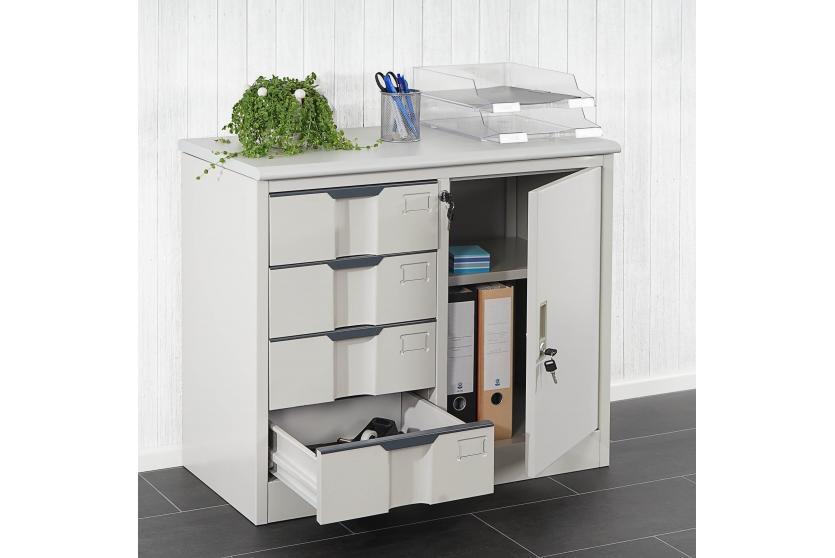 metallschrank boston b roschrank stahl schrank aktenschrank 80x69x42cm ebay. Black Bedroom Furniture Sets. Home Design Ideas