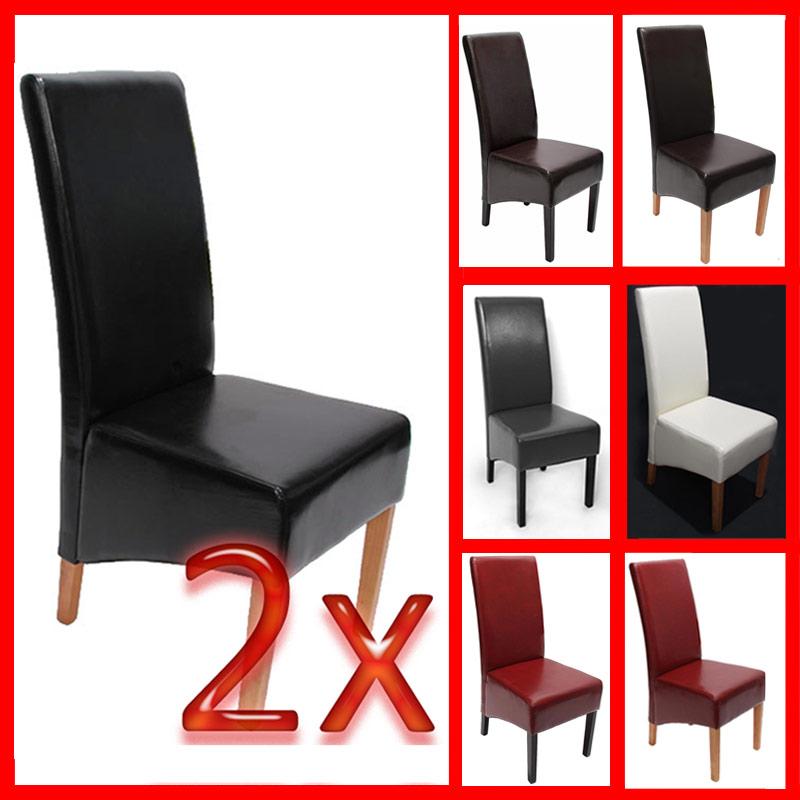 2x esszimmerstuhl stuhl sienna ii leder rot grau braun schwarz creme wei ebay. Black Bedroom Furniture Sets. Home Design Ideas