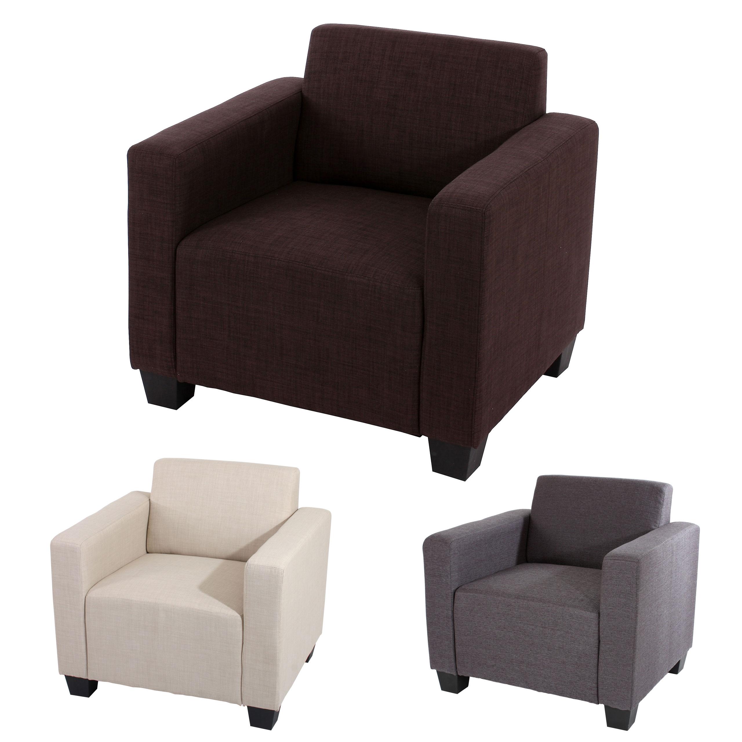 Sessel loungesessel lyon textil braun creme anthrazit ebay for Sessel textil