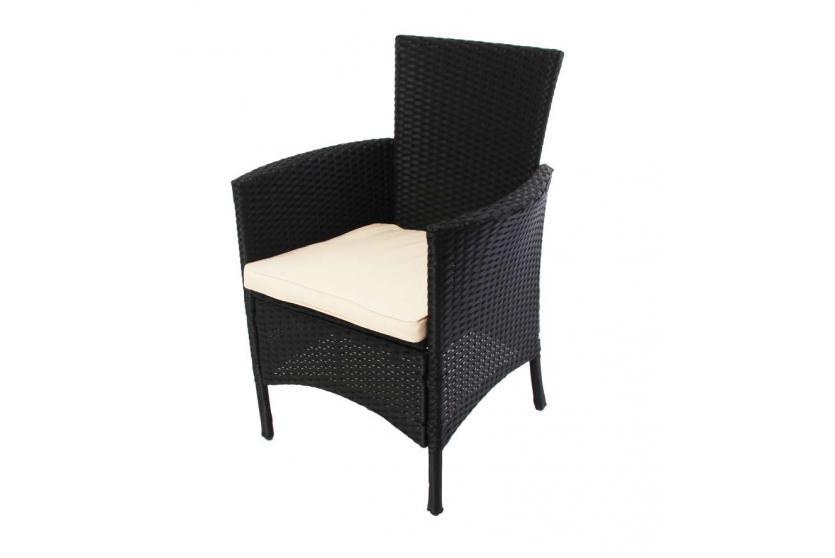 poly rattan garten garnitur esszimmer set romv 4 sessel tisch anthrazit braun. Black Bedroom Furniture Sets. Home Design Ideas