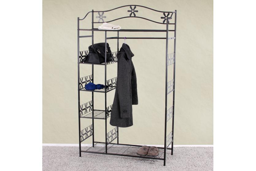 metall garderobe garderobenst nder genf metall regal 172x100x43 cm ebay. Black Bedroom Furniture Sets. Home Design Ideas