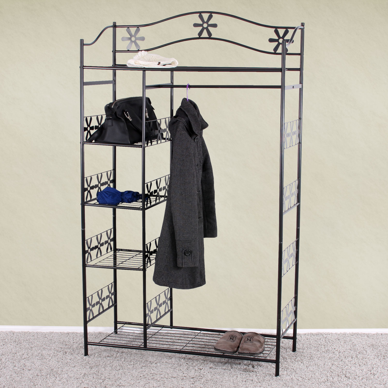 metall garderobe garderobenst nder genf metall regal 172x100x43 cm ebay. Black Bedroom Furniture Sets. Home Design Ideas