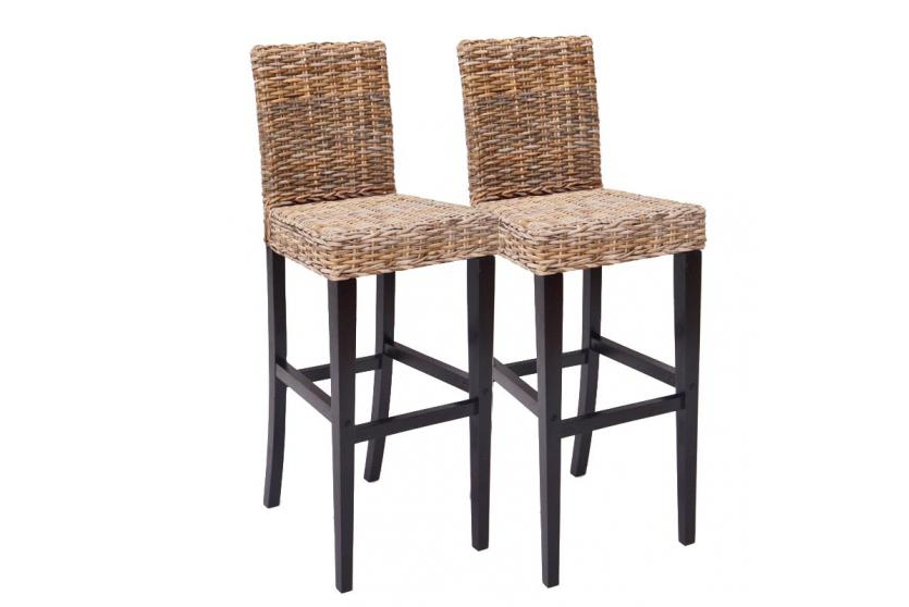 2x barhocker barstuhl m80 rattan kubu bananengeflecht. Black Bedroom Furniture Sets. Home Design Ideas