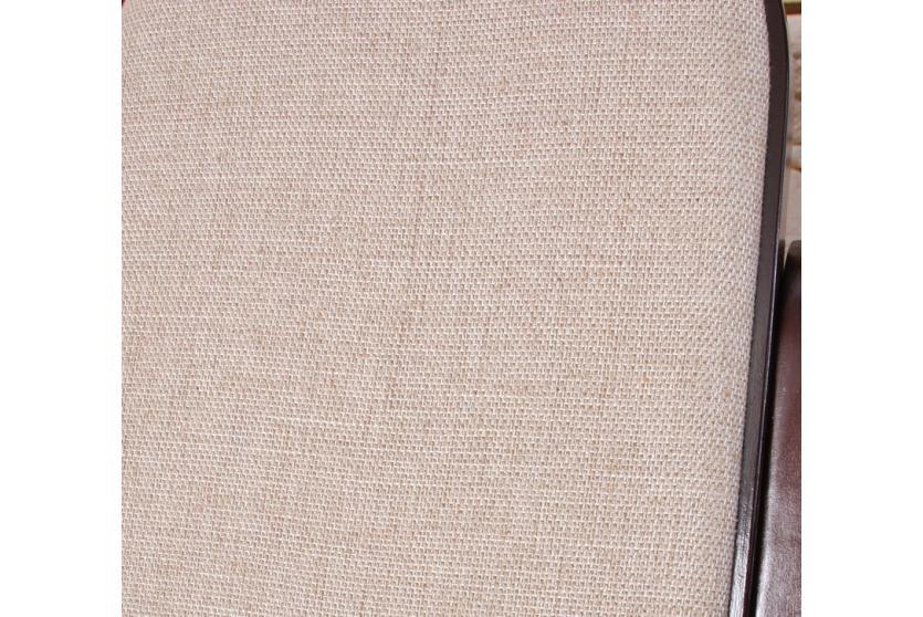 Schwingsessel schaukelstuhl m41 aus holz walnuss stoff for Schaukelstuhl stoff