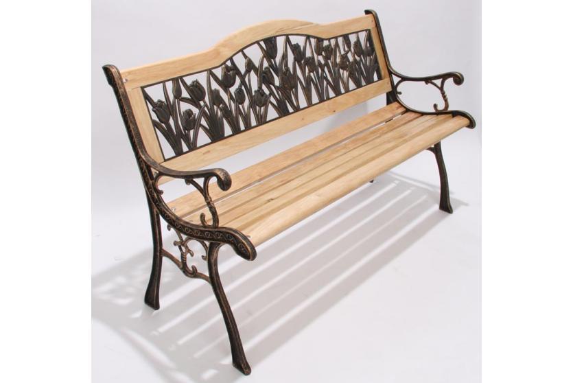 gartenbank sitzbank gusseisen bank gr n od bronze ebay. Black Bedroom Furniture Sets. Home Design Ideas