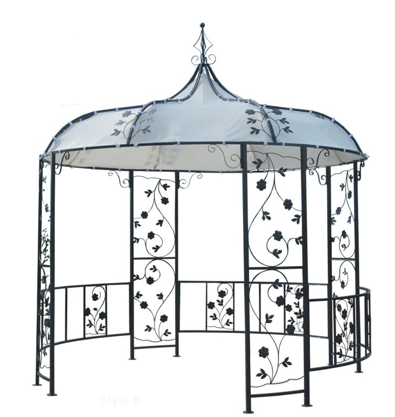 gartenpavillon pavillon gazebo 3m rund ebay. Black Bedroom Furniture Sets. Home Design Ideas