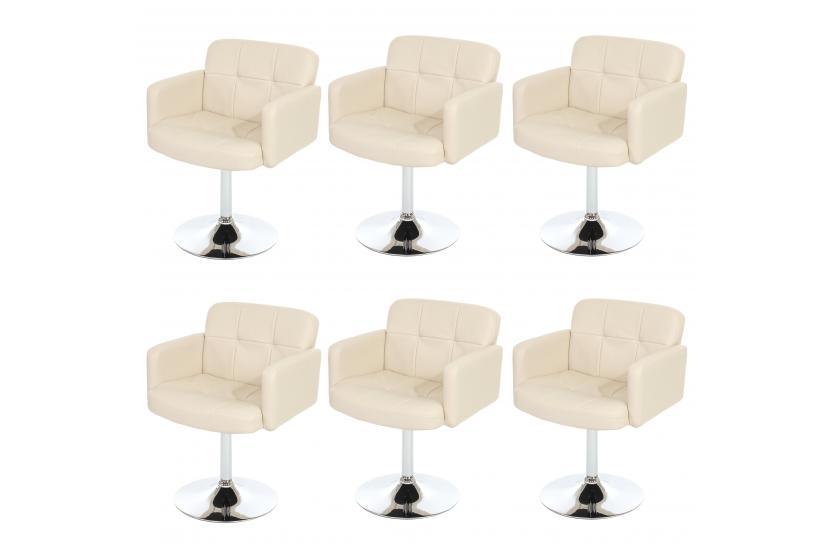 6x esszimmerstuhl drehstuhl stuhl orlando kunstleder chrom for Design esszimmerstuhl drehbar