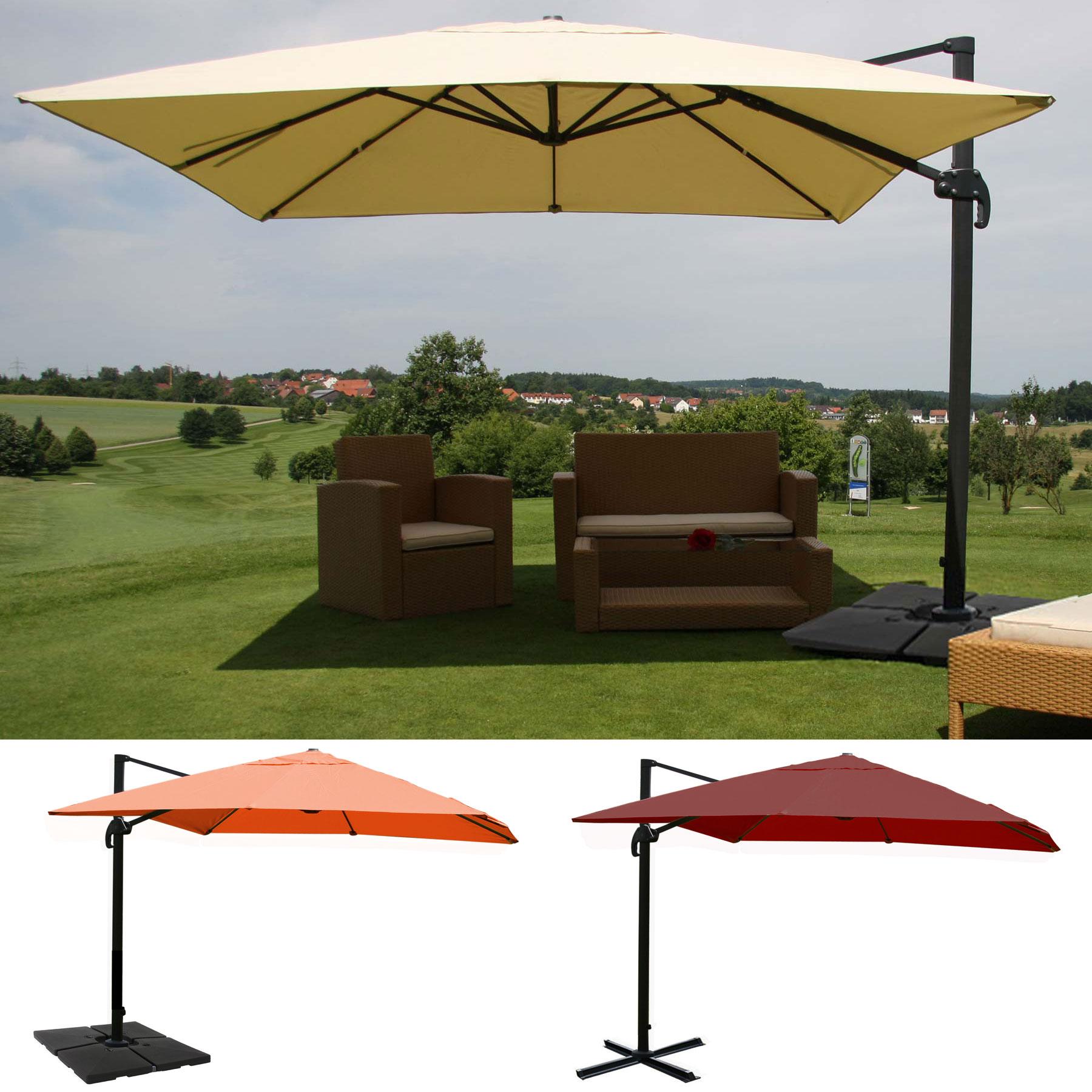 gastronomie luxus ampelschirm n22 sonnenschirm 3x4m ebay. Black Bedroom Furniture Sets. Home Design Ideas