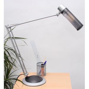 Tischlampe Schreibtischlampe Tischleuchte, silber/schwarz, H=90cm