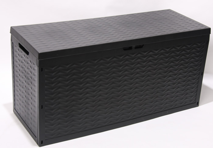 kissenbox auflagenbox gartentruhe 120x45x60 320l ebay. Black Bedroom Furniture Sets. Home Design Ideas