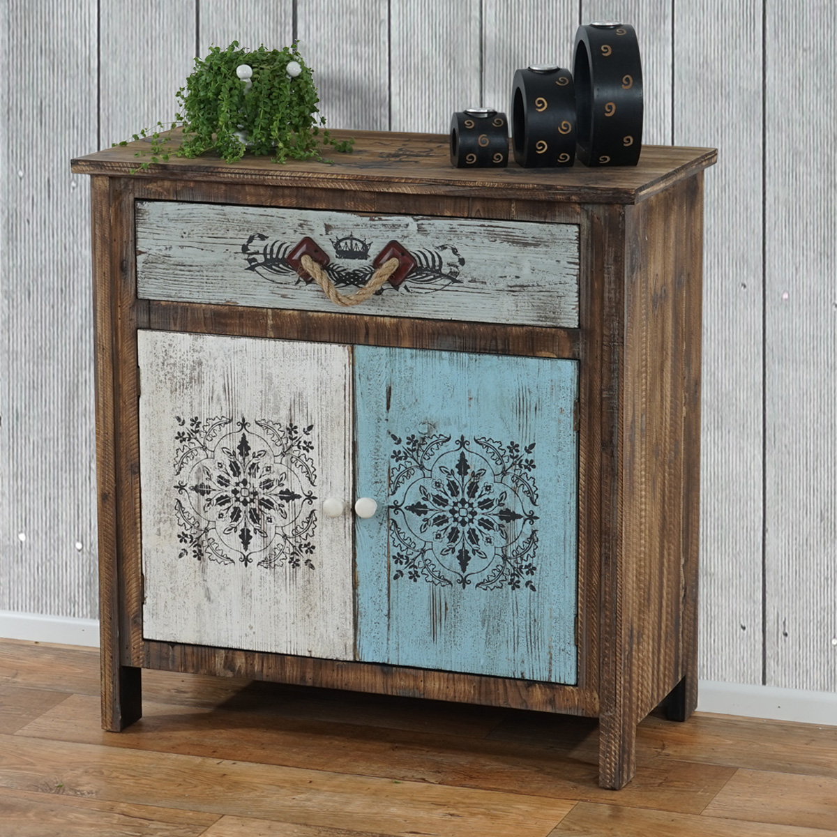 kommode aveiro sideboard schubladenschrank schrank shabby look vintage ebay. Black Bedroom Furniture Sets. Home Design Ideas